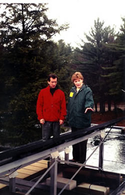- Showing NH Governor Jeanne Shaheen (now US Senator) a PV system.